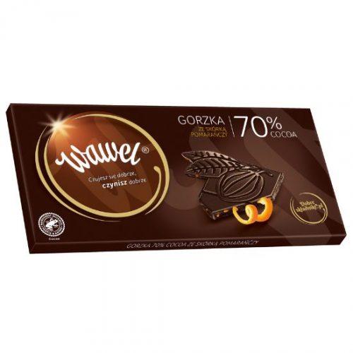 Gorzka 70% cocoa ze skórką pomarańczy