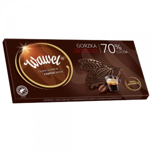Gorzka 70% cocoa z drobinkami kawy i ziarna kakaowego