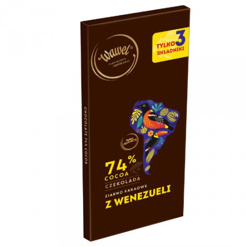 Czekolada Gorzka 74% z ziarnem kakaowym z Wenezueli