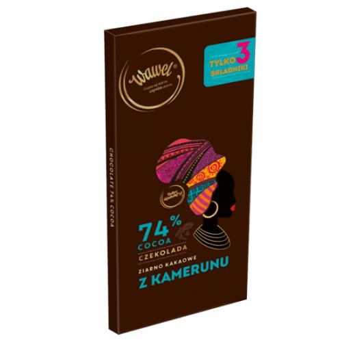 Czekolada Gorzka 74% cocoa z ziarnem z Kamerunu